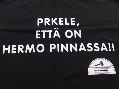 PRKELE ETTÄ ON HERMO PINNASSA!