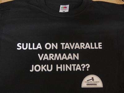 T-PAITA -SULLA ON TAVARALLE VARMAAN JOKU HINTA